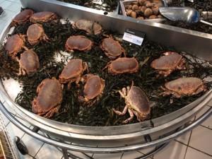 Krabben in Franse supermarkt